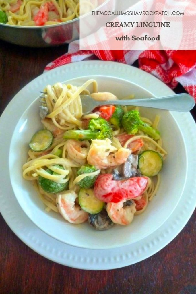 Creamy Linguine with Seafood