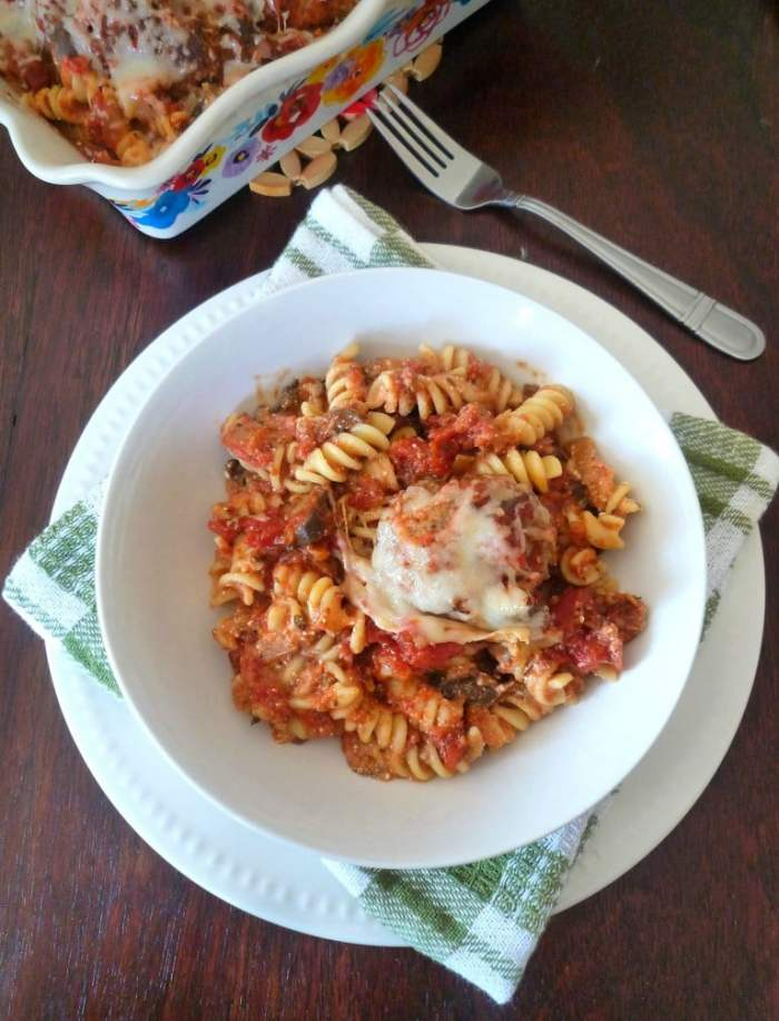 ThisBaked Rotini and Meatballs turns any traditional pasta and meatballs into the most amazing baked cheesy casserole you will ever taste.