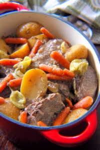 A  deliciously tender Perfect Every Time Pot Roast Recipe is hard to come by these days; but I have one to share with you today, made with a quality marbled Chuck roast,  tender  seasonal root vegetables such as Yukon Gold potatoes, baby carrots, celery, onions, all slowly cooked in a rich
