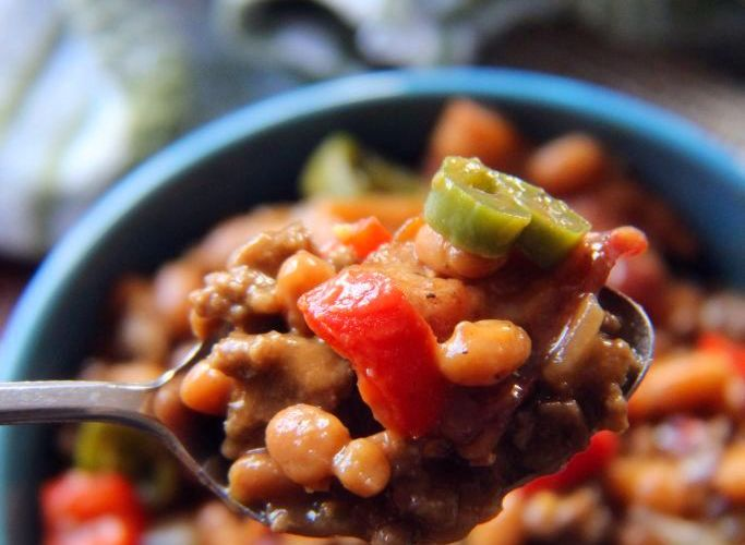 Southern Baked Bean and Ground Beef Casserole