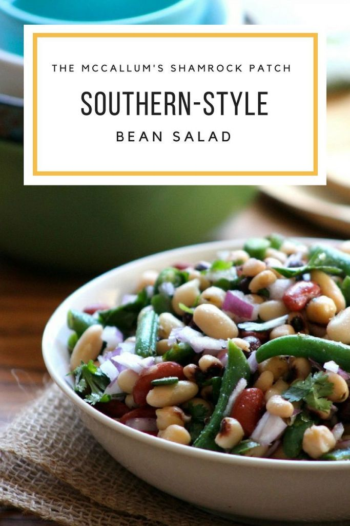 This sweet yet Tangy Southern-Style Bean Salad is the perfect side dish for potlucks, Church gatherings, and family picnics. It's a super easy recipe to make; combining fresh flash steamed green beans, kidney beans, black-eyed peas, white beans, black beans, chickpeas, red onion, cilantro, and a deliciously fresh tasting simple to make Homemade dressing.