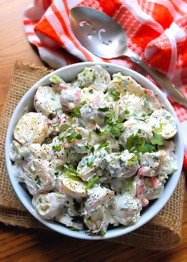 Sour Cream and Dill Potato Salad is one of the Easiest potato salads ever. Made with small new potatoes, spring onions, pimentos, sour cream, mayonnaise, and freshdill weed from the herb garden.No summer gathering is complete without a side of potato salad. This sour cream and dill version will become your go-to recipe.