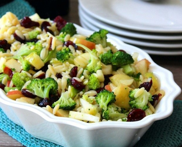 Orzo Salad with Apples and Cranberries {Fall Harvest Orzo Salad}