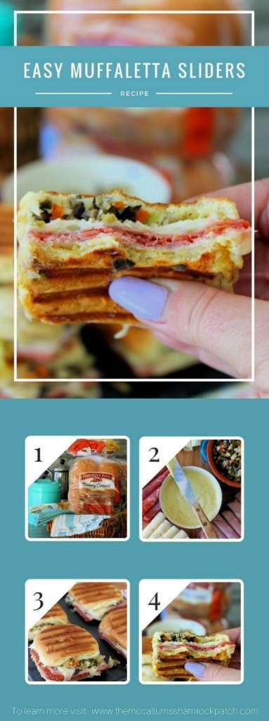 #AD Easy Muffaletta Sliders Recipe