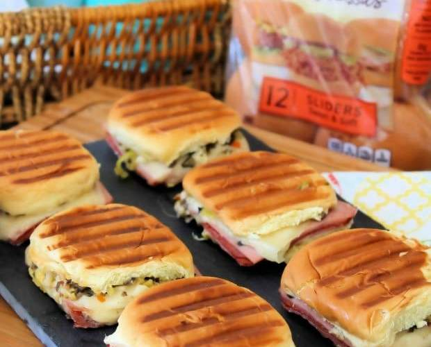 Easy Muffaletta Sliders