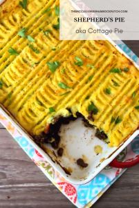 If you're in the mood for a flavorful, hearty, savory comfort-food classic recipe, this Shepherd's Pie - Cottage Pie is going to hit the spot, dead on at dinner. Made with lean ground lamb or beef, fresh organic veggies, and topped with delicious garlic cheddarmashed potatoes, then baked to perfection.