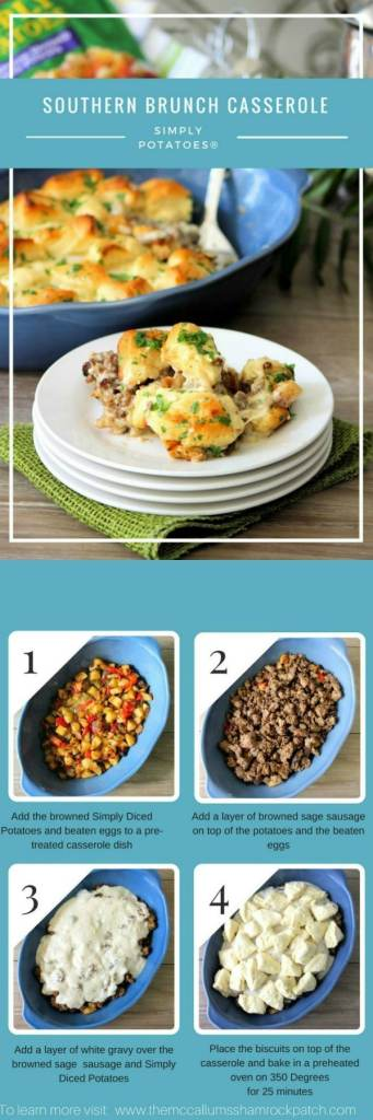 Southern Brunch Casserole made with Simply Potatoes® #AD