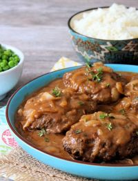 Hamburger Steaks Smothered in Gravy