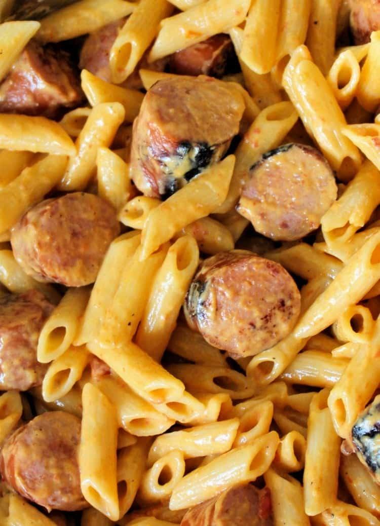 Mac and Cheese with Kielbasa