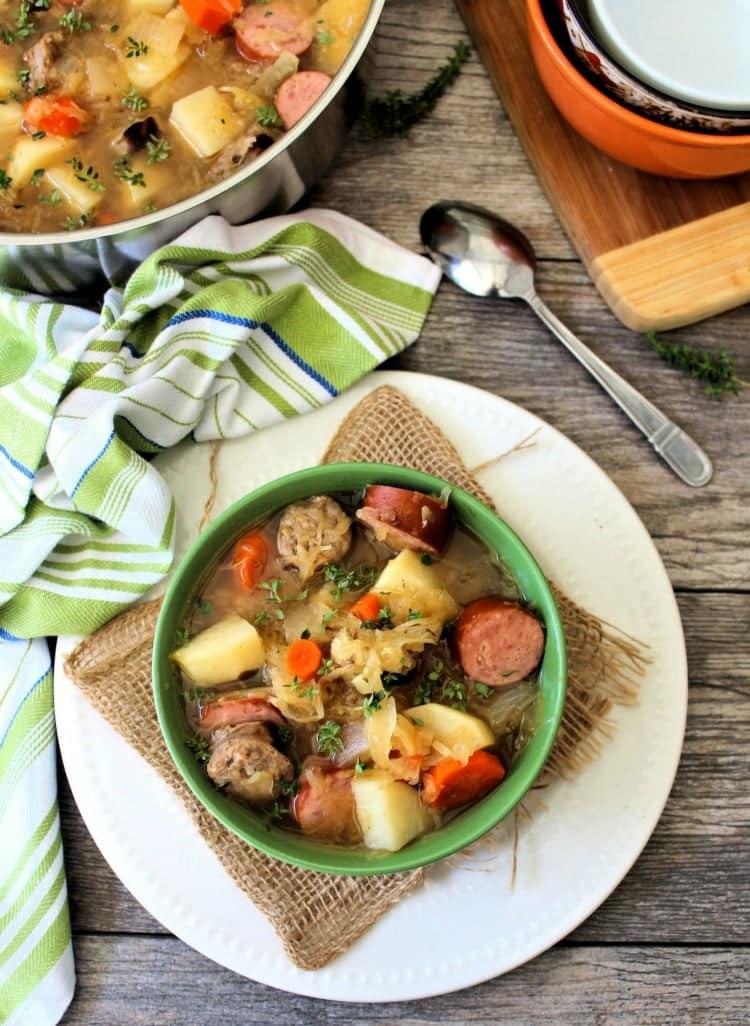 sauerkraut and sausage soup