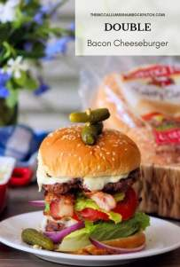 Where can you get a huge Double juicy Bacon Burger with Cheese that is far superior to a drive-thru burger? Right in your very own backyard with this deliciously flavorful Double Bacon Cheeseburger recipe. After today you'll be spending a little less time at the burger joints waiting in line and more time enjoying your own Homemade Double Bacon Cheeseburger.