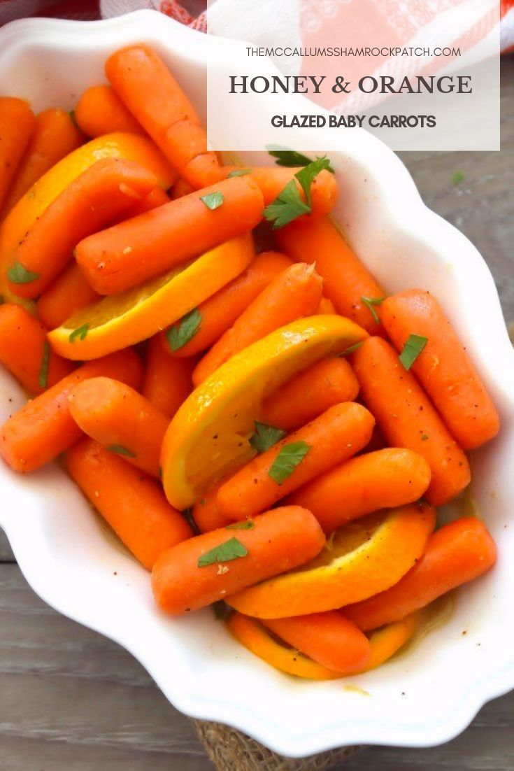 Honey Orange Glazed Carrots