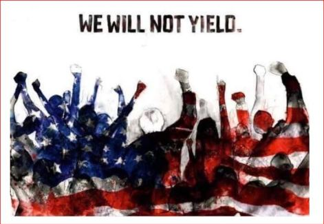we will not yie;d