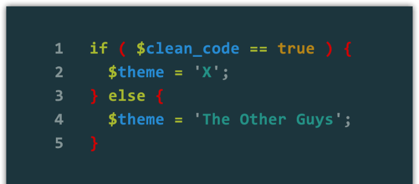 screenshot of clean code feature in X theme