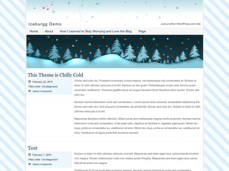 Screenshot of the Iceburgg theme
