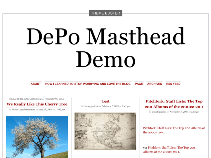 Screenshot of the DePo Masthead theme