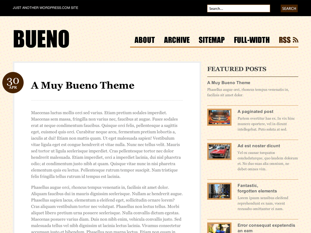 Screenshot of the Bueno theme