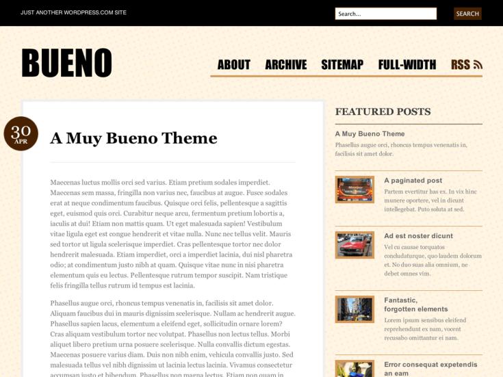 Screenshot of the Bueno theme