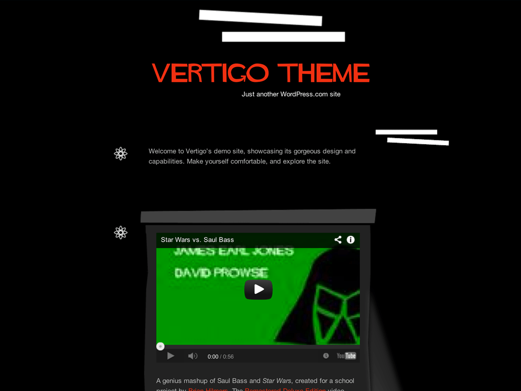 Screenshot of the Vertigo theme