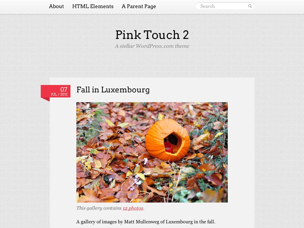 Pink Touch 2 WordPress Theme