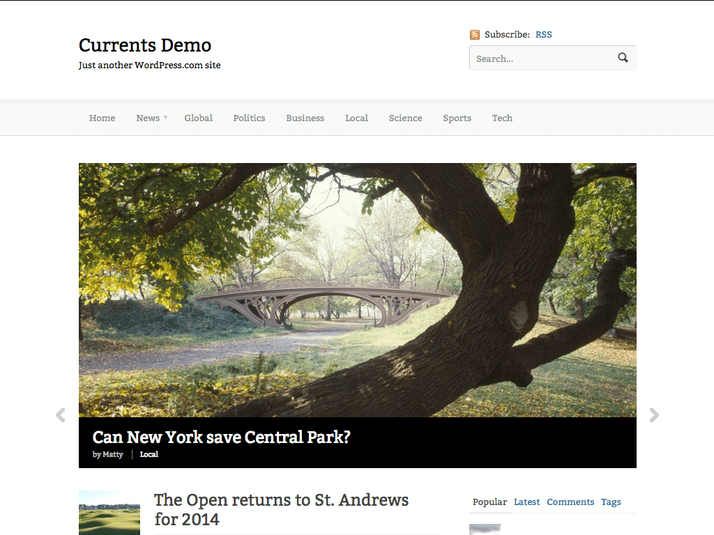 Currents WordPress Theme