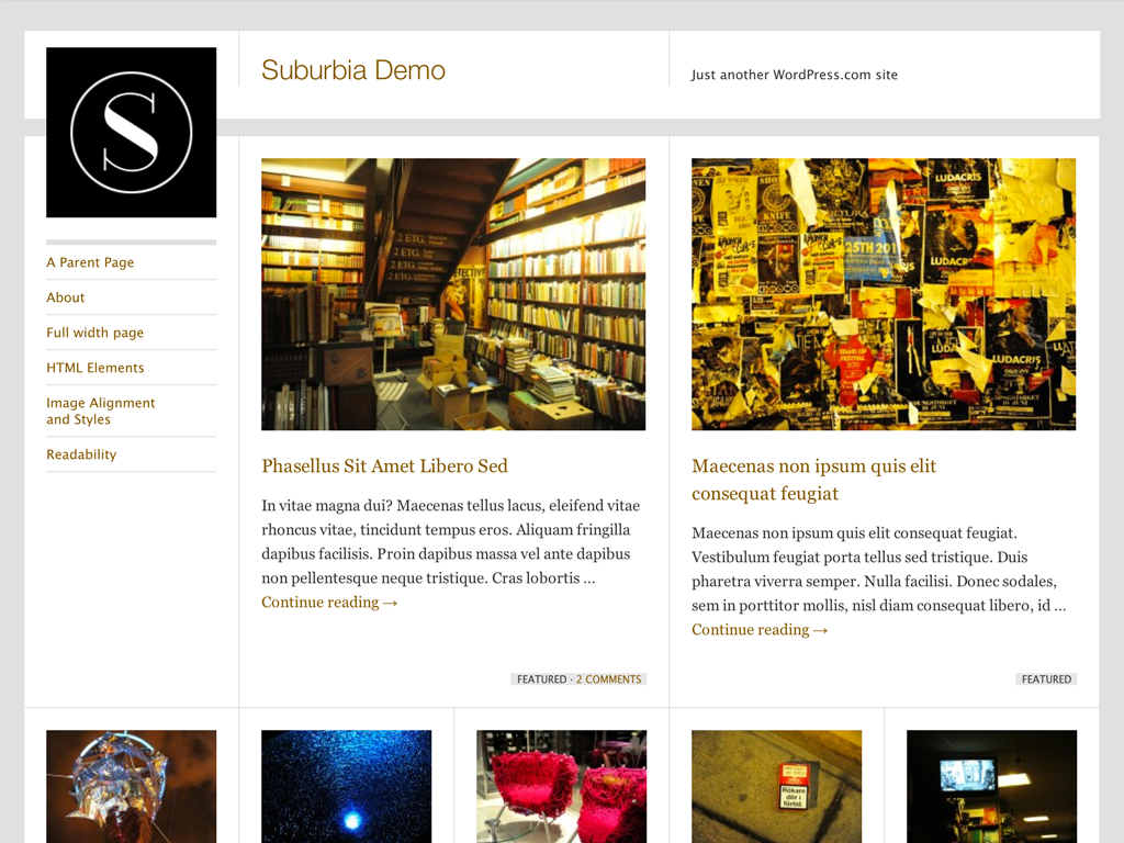 Suburbia WordPress Theme