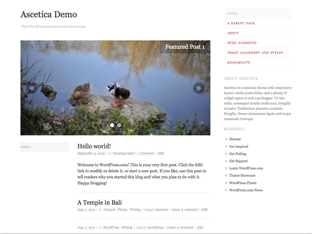 Ascetica WordPress Theme