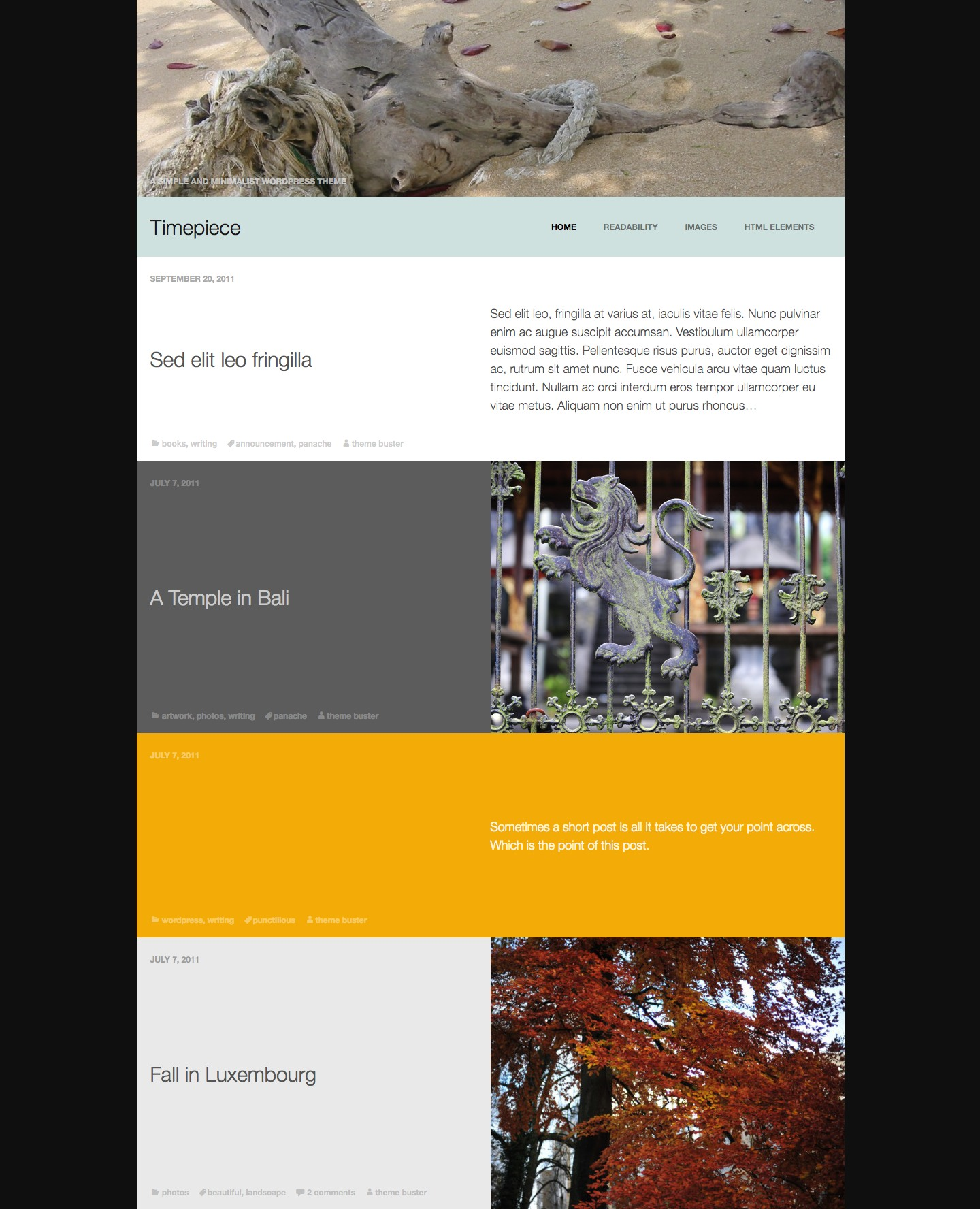 Timepiece WordPress Theme