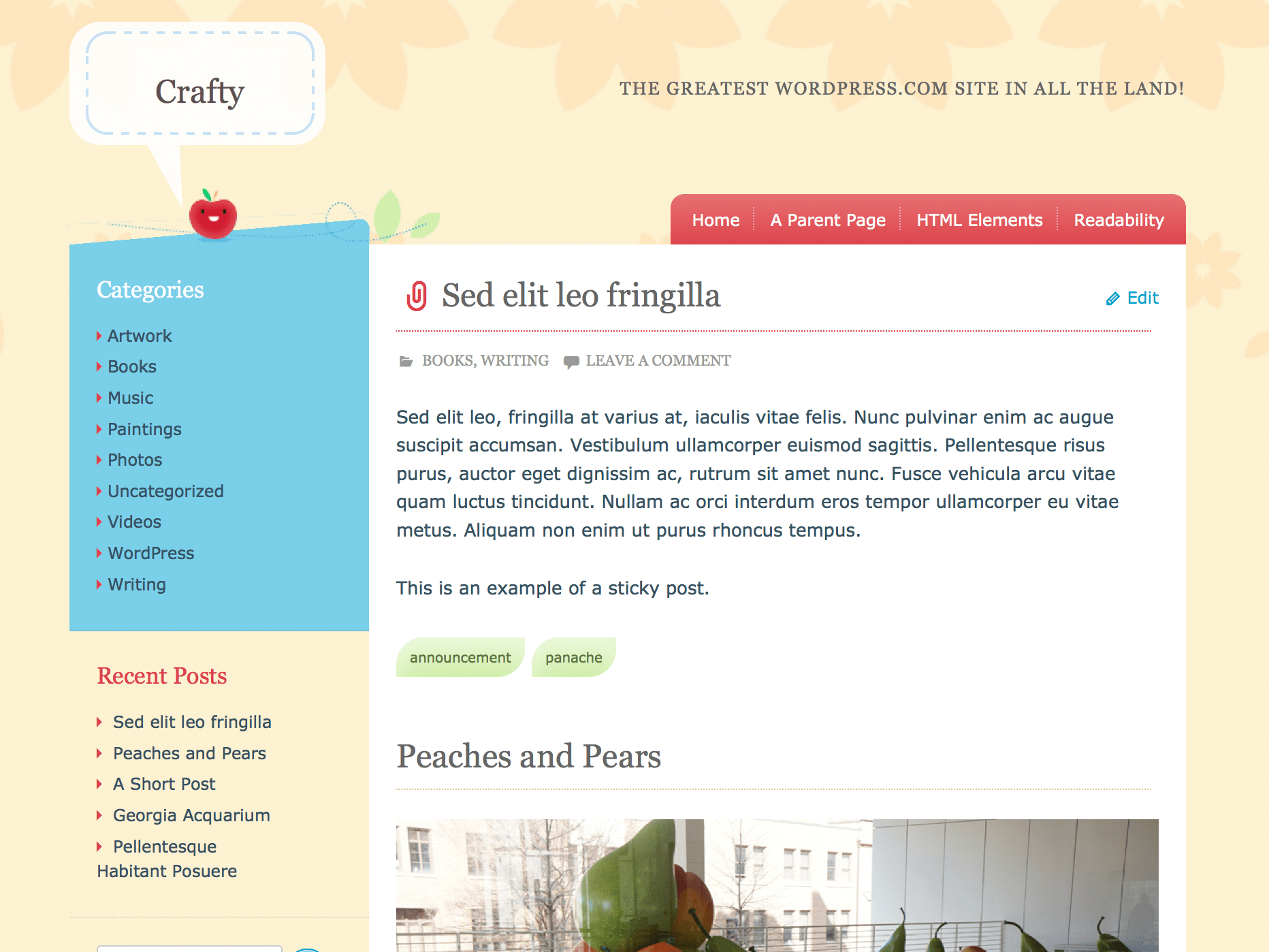 Crafty WordPress Theme