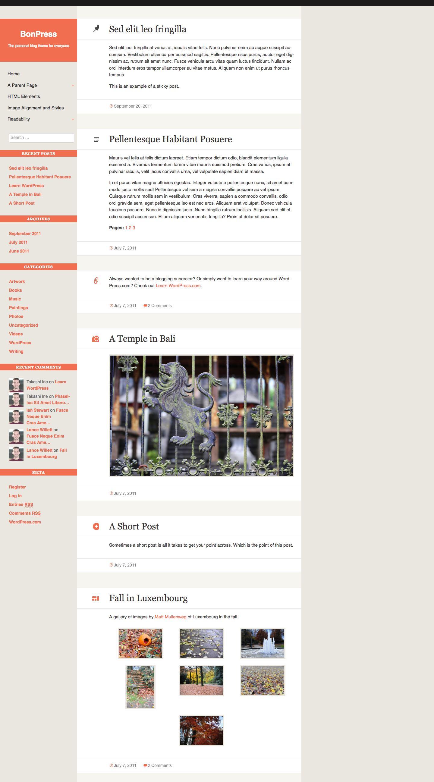 BonPress WordPress Theme