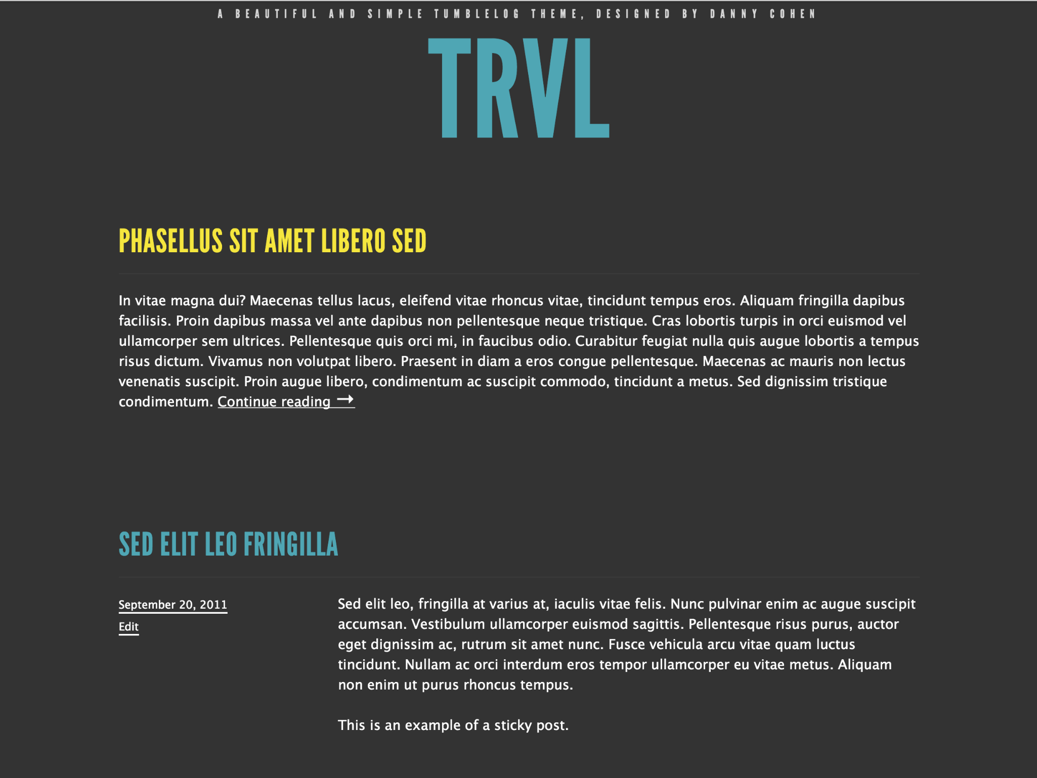 Trvl WordPress Theme