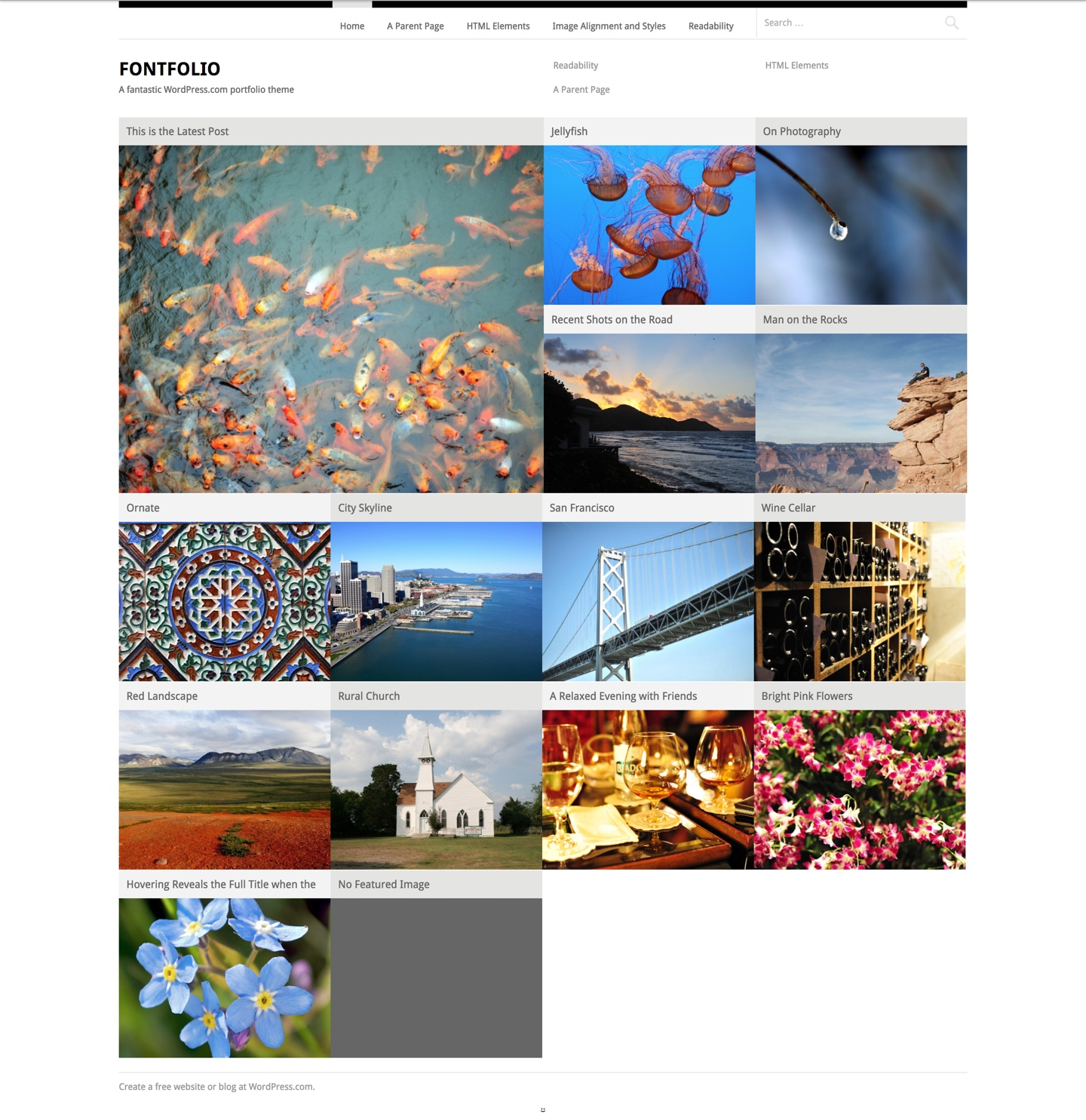Fontfolio WordPress Theme