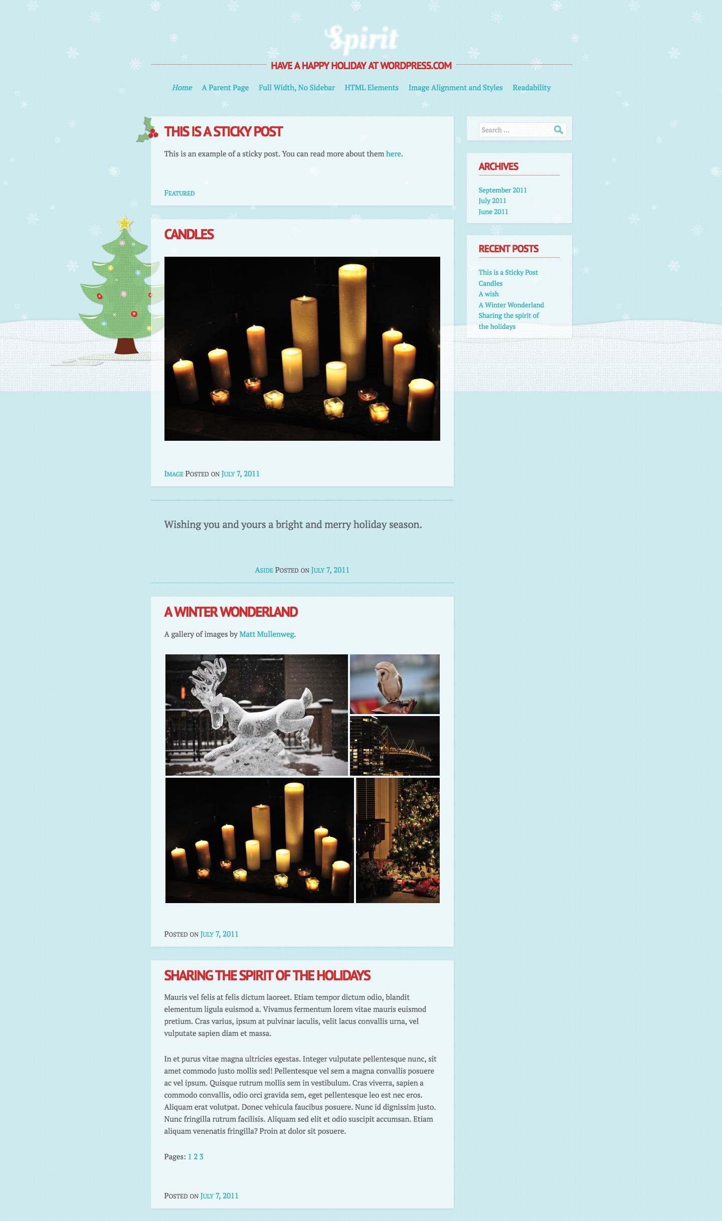 Spirit WordPress Theme
