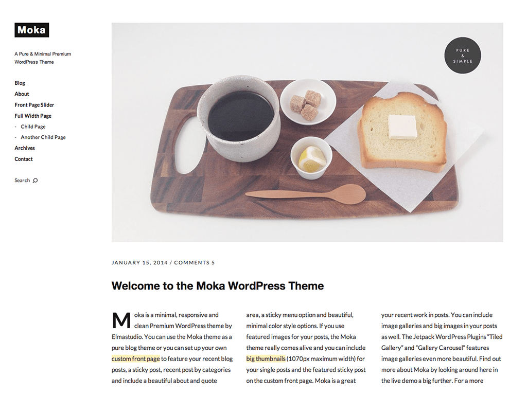 Moka WordPress Theme
