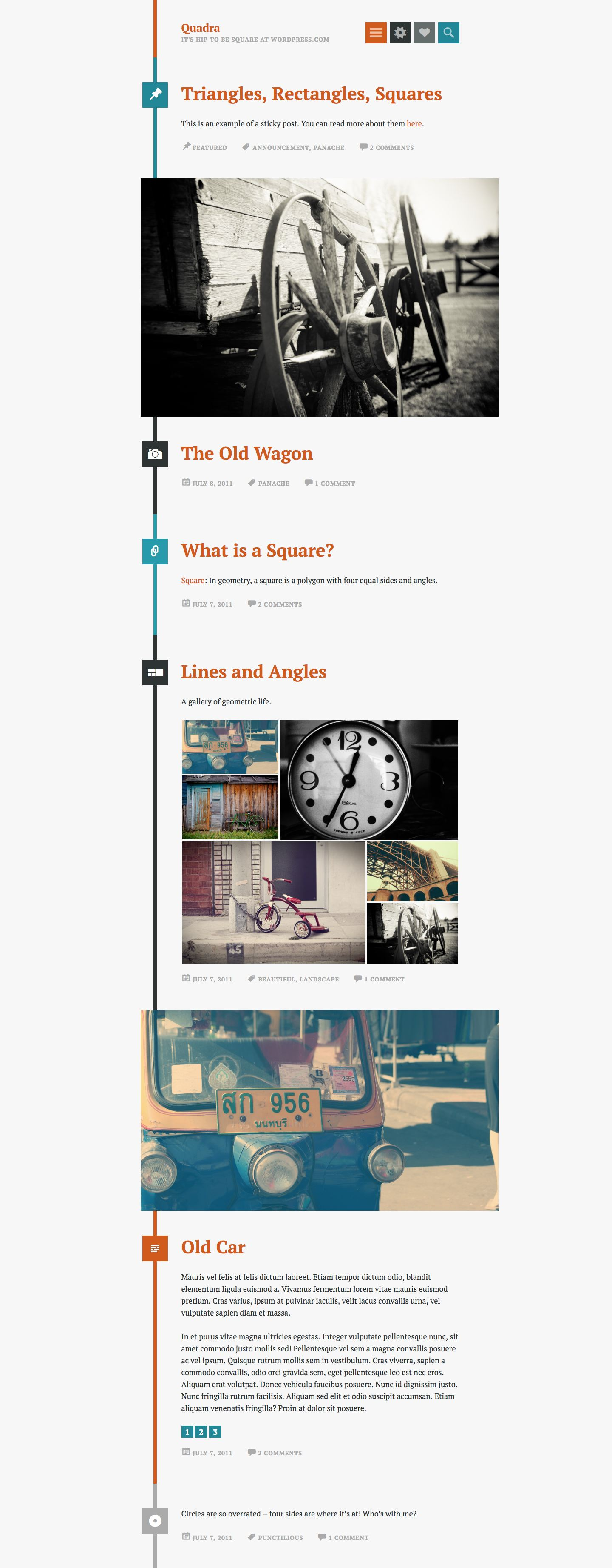 Quadra WordPress Theme
