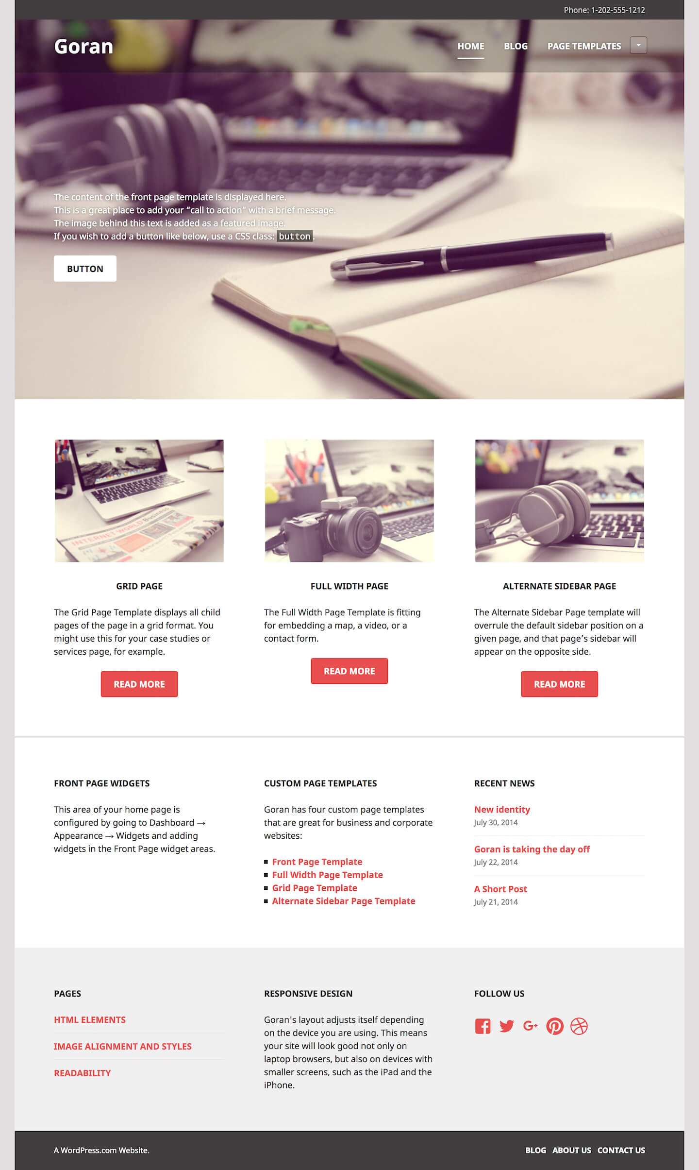 Goran WordPress Theme