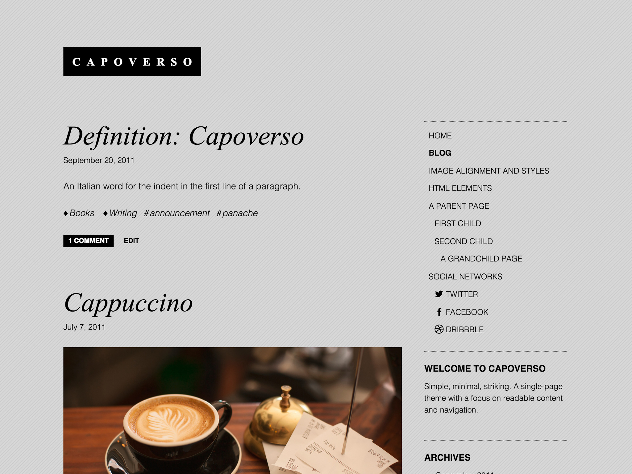 Capoverso WordPress Theme