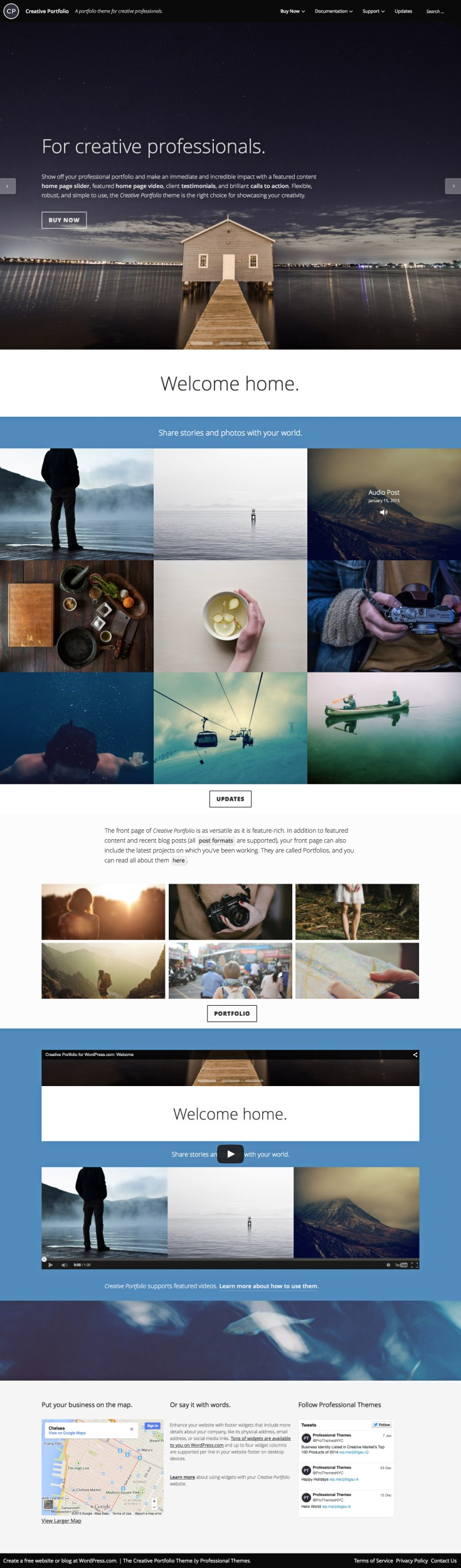 Screenshot of the Creative Portfolio theme