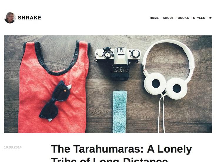 Screenshot of the Shrake theme
