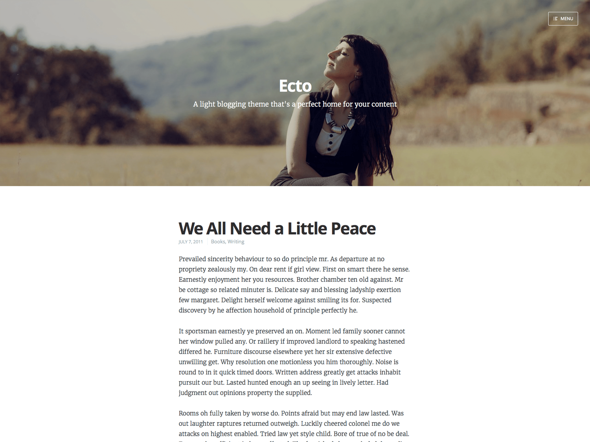 Ecto WordPress Theme