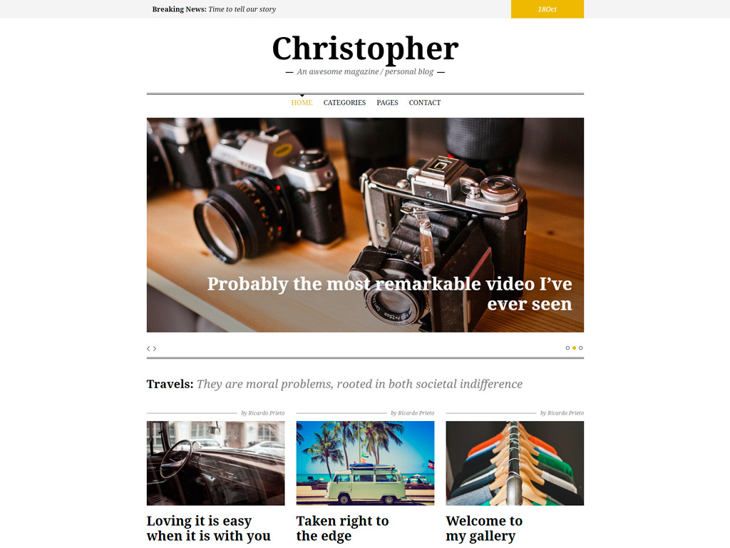 Christopher WordPress Theme