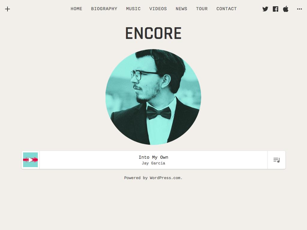 Screenshot of the Encore theme