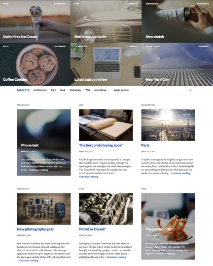 Gazette WordPress Theme