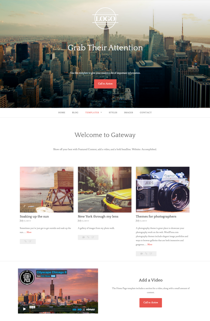 Gateway WordPress Theme