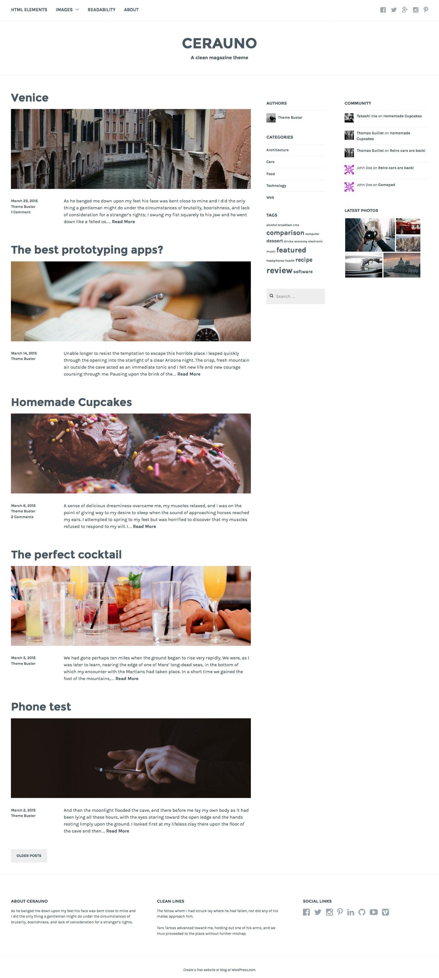 Cerauno WordPress Theme