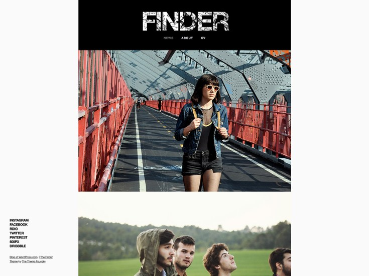 Screenshot of the Finder theme