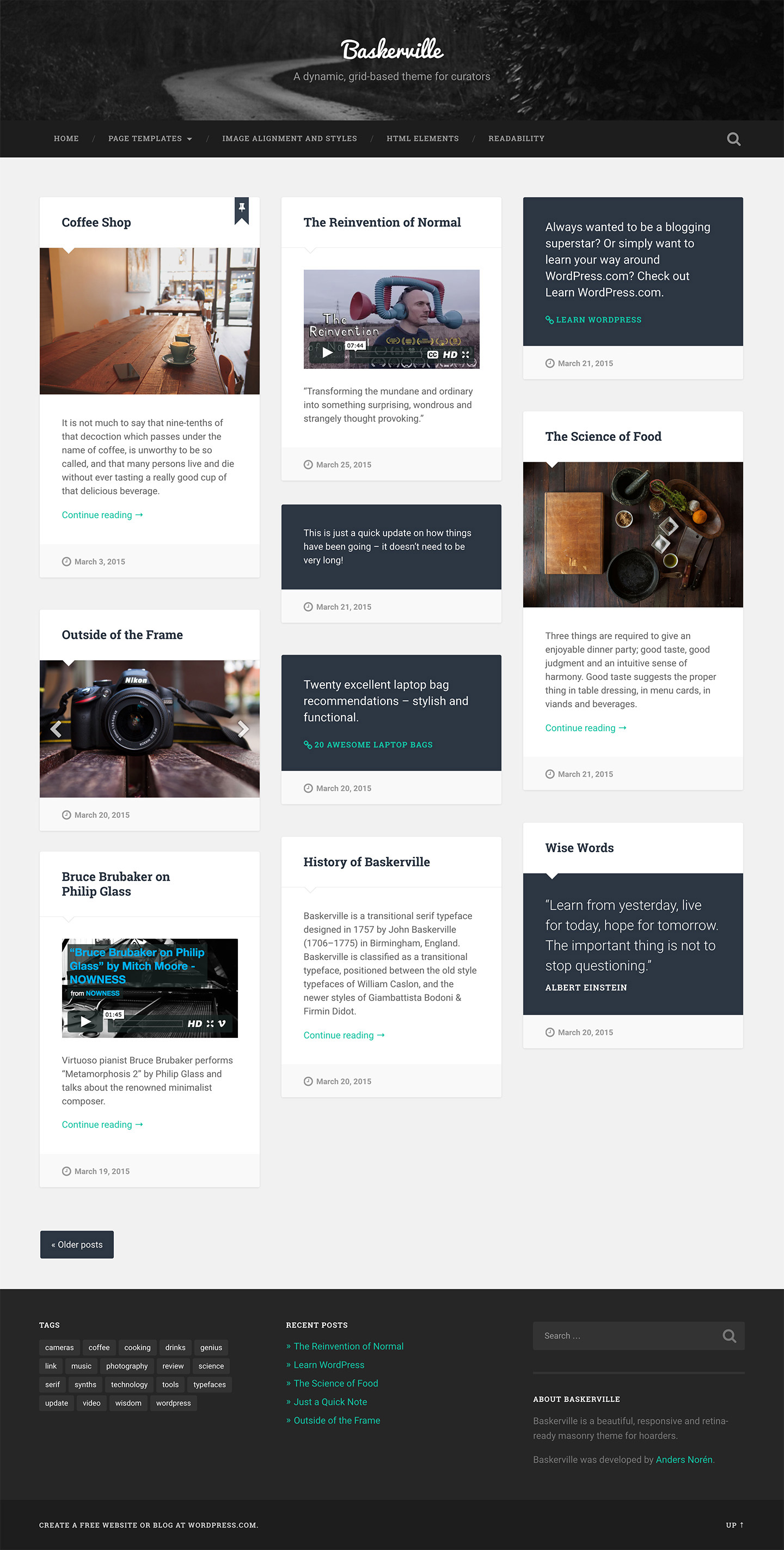 Baskerville WordPress Theme