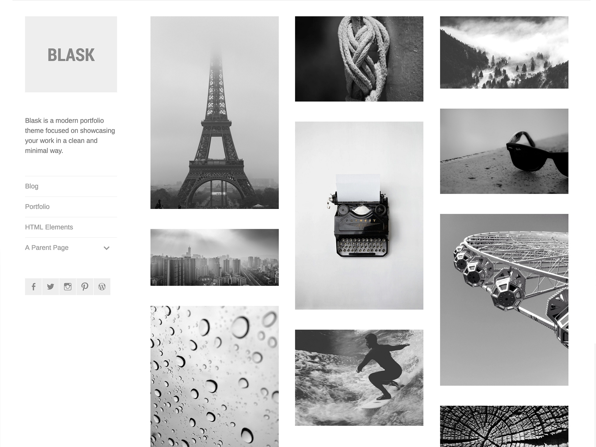 Blask WordPress Theme