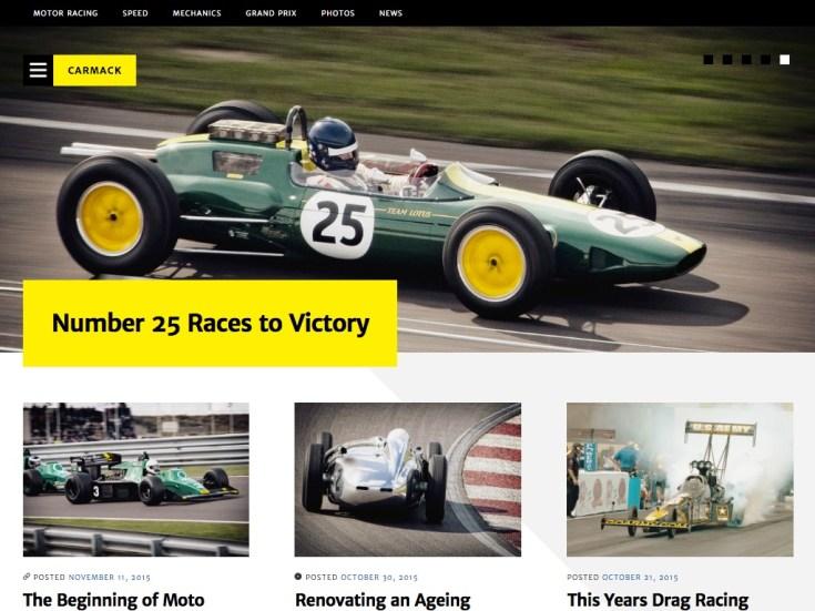 Screenshot of the Carmack theme
