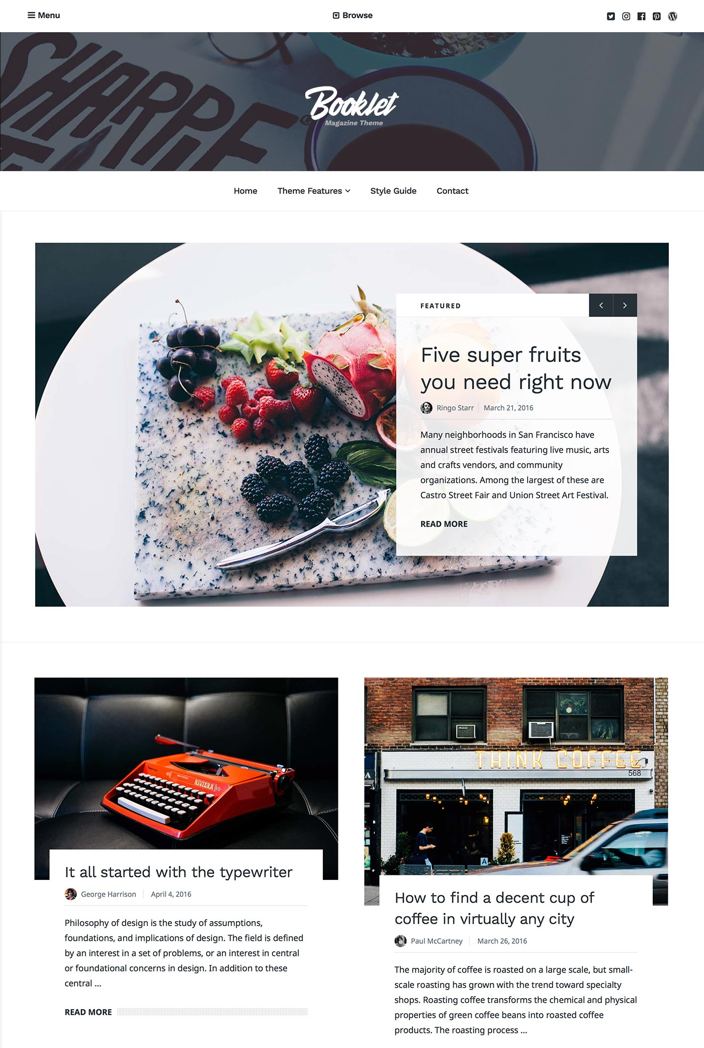 Booklet WordPress Theme